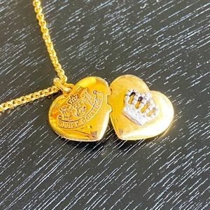 Juicy Couture heart locket necklace